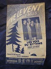 Partition Vive le vent Les voix du rythme Fred Adison Music Sheet 1959