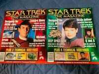 LOT of 7 Mags. STAR TREK THE MAGAZINE Issues #3 to #9.