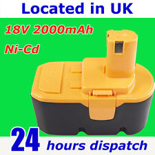 18V Ni-Cd 2.0Ah Battery BPP-1815 BPP-1817M BPP-1820 For Ryobi ONE Plus 1322401