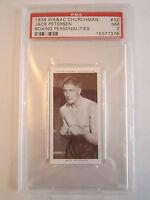 1938 JACK PETERSEN BOXING CHURCHMAN PSA GRADED 7 NEAR - MINT CARD