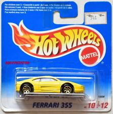 HOT WHEELS 1995 FERRARI 355 #10/12 GOLD WHEELS SHORT CARD W+