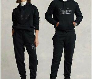 Polo Ralph Lauren New York Yankees Limited Black Sweatsuit Joggers Hoodie 2XL