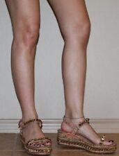 CHRISTIAN LOUBOUTIN Cataclou Wedge Platform 60mm Sandal Shoes 37 7 6.5
