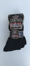 3 PAIRS MENS DIABETIC THERMAL EXTRA WIDE NON-ELASTIC SOCKS BLACK SIZE 6-11