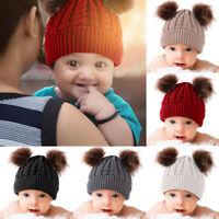 Infant Baby Hat Girl Boy Winter Warm Knitted Hat Toddler Kid Crochet Beanie Cap