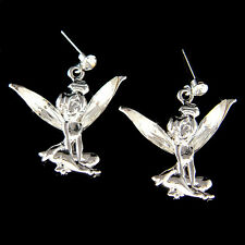 ~Tinkerbell~ made with Swarovski Crystal Tinker Bell Fairy ANGEL PIXIE Earrings