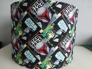 Star Wars Mandalorian Fabric Drum Lampshade ~ 30cm diameter