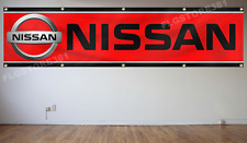 Nissan Flag Banner 2X8Ft Racing Car Flag Nisaan Gtr Hks Trd Garage Wall Decor