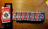 12-PKS  BICYCLE  RIDER BACK- POKER CARDS-CASE SEALED-6 RED & 6 BLUE--RED BIKE