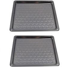 2 x TEKA Oven Cooker Vitreous Enamel Baking Tray Tin EK6053HK 430 x 375 x 20mm