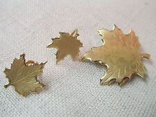 Vintage Danecraft demi Parure Brooch Earrings 1/20 12K Gold Filled Maple Leaf