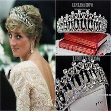 Vintage Wedding Bridal Pearl Crown Diana Tiara Princess Hair Accessories Jewelry