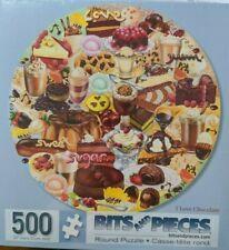 """I Love Chocolate"" 500-Piece Round Jigsaw Puzzle - Sealed"