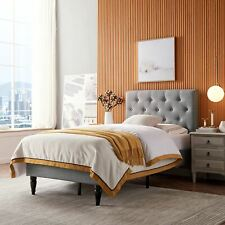 Agnes Contemporary Upholstered Twin Size Platform Bed
