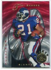 1997 Pinnacle Totally Certified Platinum Red 129 Tiki Barber Rookie 4049/4999