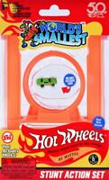 STUNT ACTION SET Worlds Smallest Hot Wheels Loop,Track, Joiners, Exclusive Car