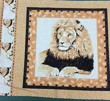 Timeless Treasures Lion Cushion Double Panel 100% Cotton