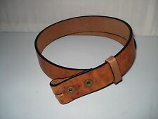 MEN'S HEAVY DUTY 100% HANDCRAFTED BROWN LEATHER BELT SZ 28-38 NO BUCKLE USA MADE