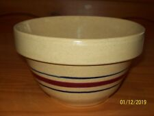 """Antique 7"""" ROSEVILLE  R.R.P. CO. Stoneware Pottery YELLOW WARE Mixing BOWL."""