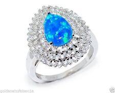 Solitäre Echte Edelstein-Ringe aus Sterlingsilber mit Opal für Damen