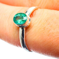 Zambian Emerald 925 Sterling Silver Ring Size 8.5 Ana Co Jewelry R39604F