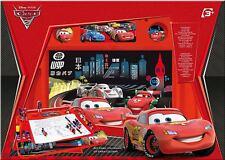Set da disegno con lavagna pennarelli colorati Cars 100 pezzi