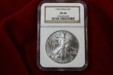 1999 AMERICAN SILVER EAGLE, NGC MS68, BROWN LABEL, UNITED STATES BULLION COIN