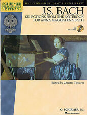 Bach Selections The Notebook Anna Magdalena Learn to Play Piano Music Book
