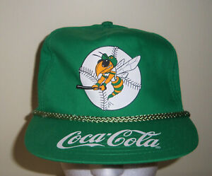 Vintage Greensboro Hornets Coca Cola Ad Military Style Snapback Hat Grasshoppers