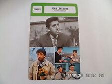 CARTE FICHE CINEMA JEAN LEFEBVRE période 1963 - 1970