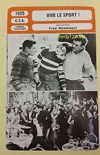 US Silent Comedy Movie The Freshman Harold Lloyd French Film Trade Card