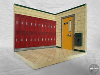 VertigoToys 1:12 Scale Locker Hallway Action Figure Diorama Marvel Legends Neca