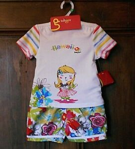 *BABYGRO* Baby Girls Soft Cotton TOP & SHORTS SET 12 Months 74cm BNWT
