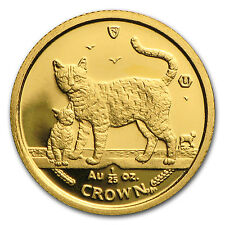 2002 Isle of Man 1/25 oz Gold Bengal Cat BU - SKU #32332