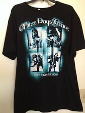"""Three Days Grace """"Life Starts Now"""" Concert 2010 Tour Graphic T-Shirt Size Large"""