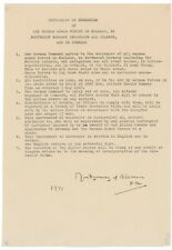 RARE World War II German Instrument of Surrender Signed by Bernard Montgomery