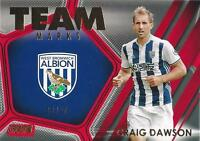 2016-17 Topps Stadium Club Premier League 'Team Marks' Red Parallel  #'d to /50