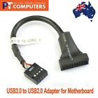 2 x USB 3.0 20-Pin Male Header to USB 2.0 9-pin female Adapter for motherboard