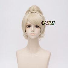 Final Fantasy XV 15 Lunafreya Nox Fleuret Light Blonde Anime Cosplay Wig+Cap