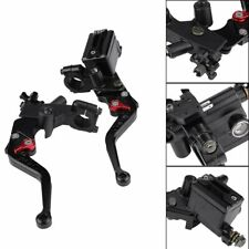 "7/8"" Motorcycle Hydraulic Brake Clutch Master Cylinder Reservoir Lever Universal"