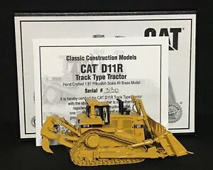 CCM CAT D11R TRACK TYPE TRACTOR 1:87 SCALE ALL BRASS SERIAL # 330/711 NOS LE COA