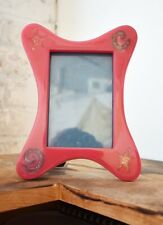 Indented Pink Rectangle Frame with Sparkle Shapes Photo Frame