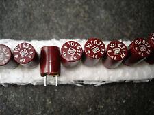 10x NOS ROE EK 10uF/63V ROEDERSTEIN bakelite vintage capacitors for audio