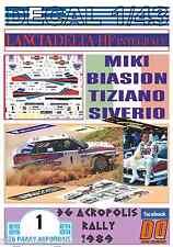 DECAL 1/43 LANCIA DELTA INTEGRALE M.BIASION ACROPOLIS R. 1989 WINNER (01)