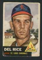 1953 Topps #68 Del Rice VG/VGEX Cardinals 87204