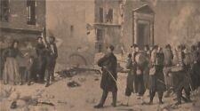 PARIS COMMUNE 1871. Quand vous-voudrez! (Tableau de Jules Riou, 1871) c1873