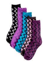 5 Paar Damen Socken bunt Winter Strümpfe Zick zack Söckchen Sneaker 36-41 #30