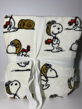 """NWT Berkshire Peanuts Snoopy Red Baron Flying Ace Twin Blanket 60"""" x 90"""""""