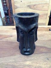 Artista sconosciuto-buffe vaso bronzo con volti a metà 20 secolo