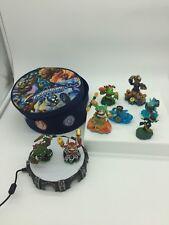 Lot of 9 piece SKYLANDERS Swap Force Spyro Adventure Portle Game Figures Bag